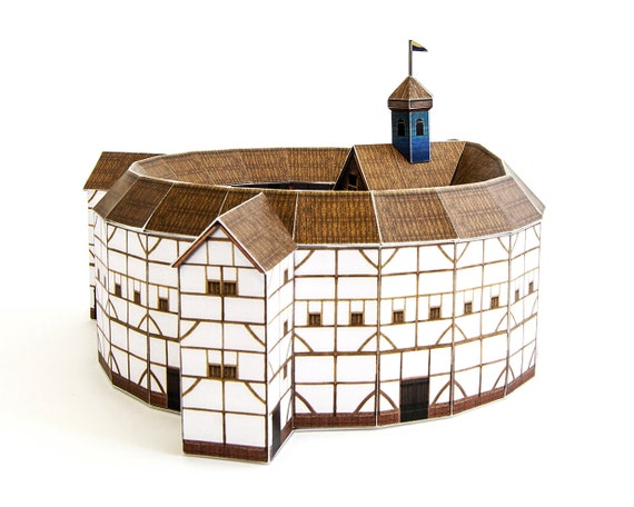 Globe Theatre, crafts kit for building your own replica of Shakespeare's famous theatre, full color, 20 cm or 8 inches in diameter