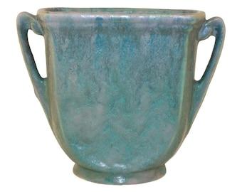 Roseville Pottery Carnelian II Handled Vase 353-5