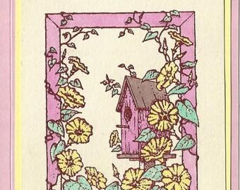 Morning Glory Birdhouse-choice of Inside