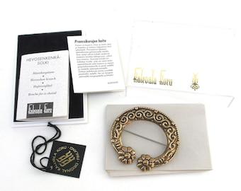 vintage finnish bronze pin brooch  ...   vintage jewelry finland   ...   kalevala koru