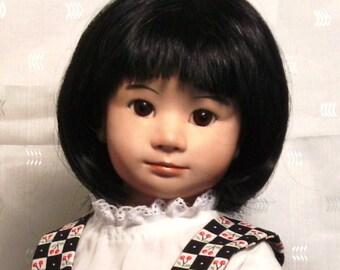 Mitsuki, an Original Artist, OOAK Handmade Asian-American Porcelain Doll