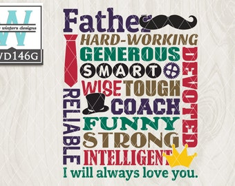 SVG Dad Themed Cutting File kwd146g svg eps dxf png
