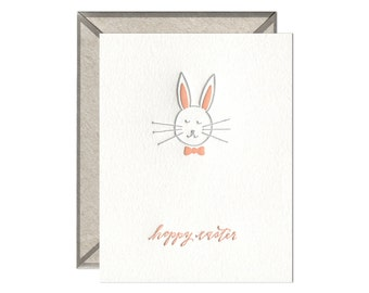 Hoppy Easter letterpress card - single