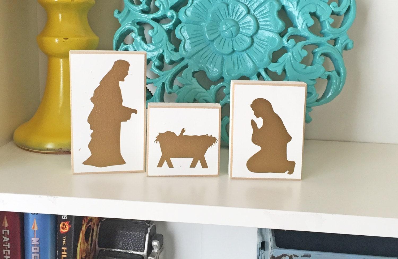 nativity blocks nativity christmas decor nativity decor. Black Bedroom Furniture Sets. Home Design Ideas