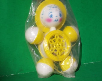 Vintage Retro Baby Rattle Still in Package