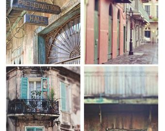 "New Orleans Photography Set, Set of 4 Prints, Fine Art Photography, 8x10"" or 11x14"" Wall Art Set, Louisiana Art, House Warming Gift"