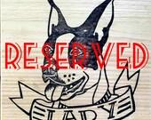 RESERVED - custom pet portrait.