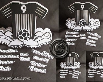 Football Shirt and boots Card Cutting File,DXF,SVG,MTC,Scal,ScanNCut,Cricut,Silhouette,Cameo,CraftROBO,Ecraft