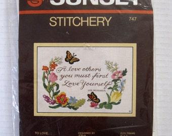 Sunset Stitchery Embroidery Kit No. 747 - To Love