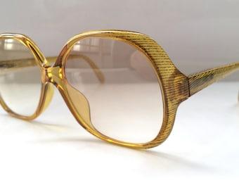 80s Vintage Austrian Animal Print Honey COBRA Optyl Ladies Women Sunglasses
