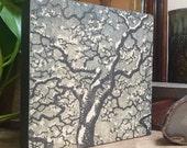 Original Mounted OOAK Woodblock Print - Hand Pulled Fine Art Print - Ready To Hang Wall Art Tree No. 34