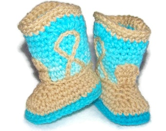 Crochet Boots For Children - Crochet Boots For Babies - Crochet Boots For Girls - Crochet Boots - Baby Boots - Cowboy Boots - Cowgirl Boots