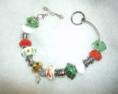 Christmas Tones Beaded Bracelet