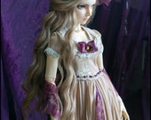 Ooak handmade ecru and violet outfit for feeple60 delf sd girls