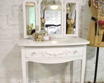 Painted Cottage Chic Shabby Romantic Vanity VAN727