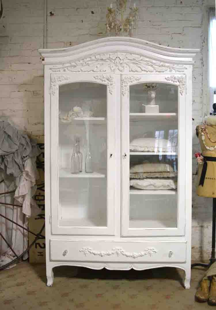 painted cottage chic shabby french romantic armoire wardrobe. Black Bedroom Furniture Sets. Home Design Ideas