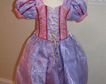 New Rampuzel Inspired Costume Birthday girl toddler princess dress size 4 6