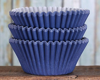 Navy Cupcake Liners, BakeBright Cupcake Liners, Navy Baking Cups, Cupcake Cases, Cupcake Wrappers, Wedding Cupcake Liners (60)