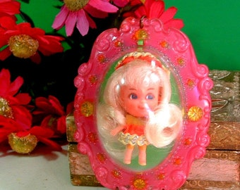 """1966 Liddle Kiddles """"Lucky Locket Kiddle"""" LAVERNE Kiddle VERY Hard to find - 50 years Old"""