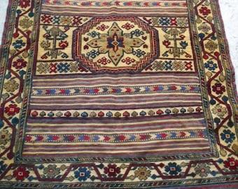 "Elaborately woven 6 ft  3""  x 4 ft 2"".  Qalaino Tribal Rug/Kilim. Traditional. 190 x 127 cm Tapis"