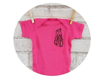 Hot Pink Anatomical Heart Baby One Piece Bodysuit, Cotton Infant Clothing, baby girl Shirt, Human Anatomy, Valentine, Cardiology, Onepiece