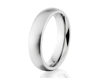 New 6 mm Cobalt Ring, USA Made Wedding Bands - Free Sizing 4-17