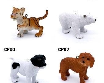 Last - 50% off - Resin Polar Bear Pendants / Charms CP) - Clearance Sale