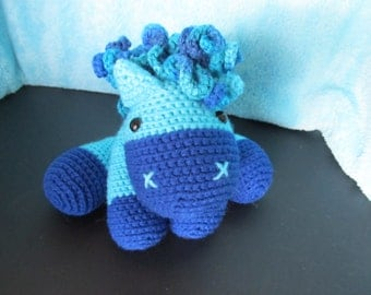 Crochet Blue Pony
