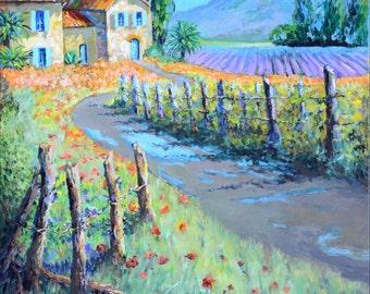 Custom Landscape Paintings on Canvas with Acrylic