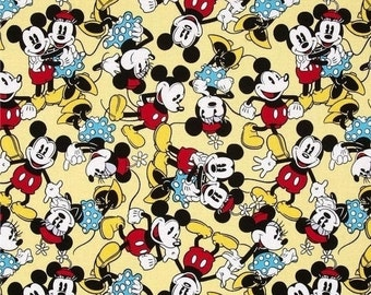 DISNEY's  Mickey Mouse Fabric -- LAST piece -- 40-70% off Patterns n Books SALE