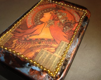 ALTERED ALTOID TIN - Vintage Art Treasure Box, Jewelry Box, Gift Box, Keepsake Box