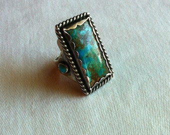 Chrysocolla & Turquoise Ring