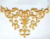 """GB275 Gold Embroidered Applique Iron On Patch 10.25""""  (GB275-gl)"""