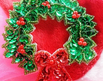 Sequined Wreath Etsy