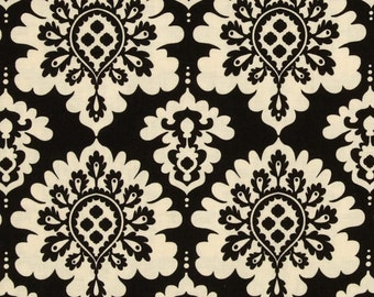 Lost and Found Love Riley Blake Fabric Black and Cream Damask Medallions