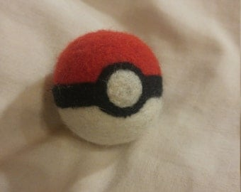 Felted Catnip Pokeball Cat Toy