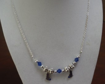 Petite feet birthstone necklace perfect for moms, grandmas, aunts or that special someone