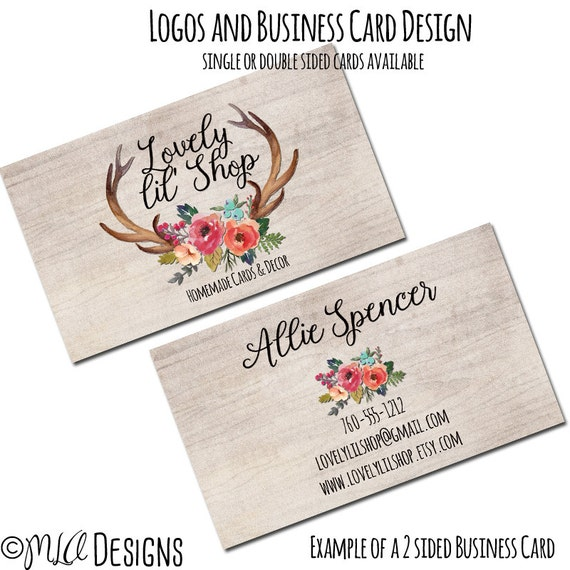 Rustic business card 1 or 2 sided custom rustic premade like this item reheart Images