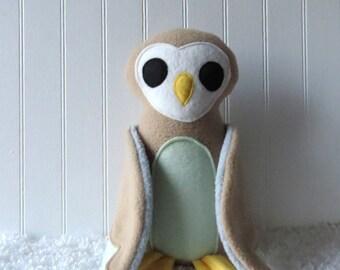 Barn Owl, Plush Owl, Toy Owl, Owl Doll