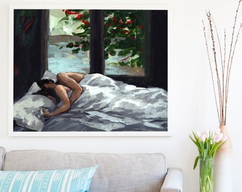 Asleep . extra large artwork giclee print