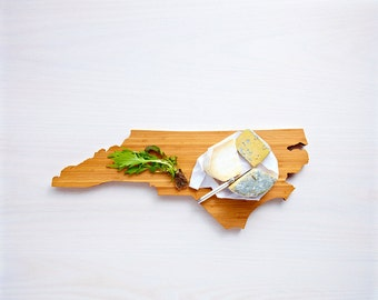 North Carolina Cutting Board 4th of july Gift Personalized engraved North Carolina cheese state shaped board