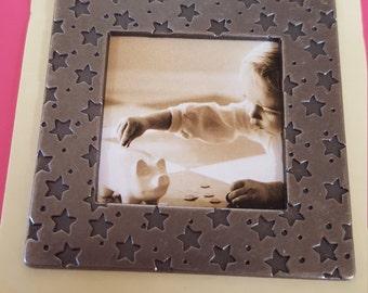 Making Memories Star  Metallic Frame 2.5 in. NIP