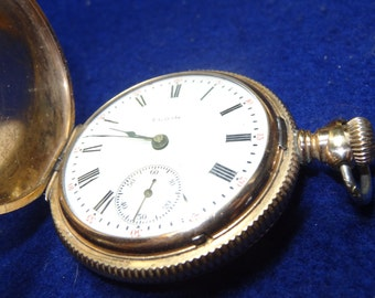 Gorgeous 18 Size 15 Jewels Elgin Hunting Case Pocket Watch