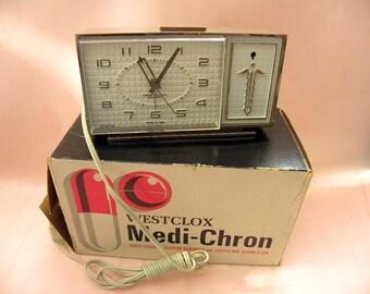 Westclox 1960s  Medicine Reminder Lighted Clock by Big Ben