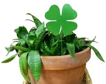 Shamrock Ornament or Plant Stake, Saint Patrick's Day, Christmas Ornament, Planter, Metal, Rustic, Celtic, Garden, Lawn Ornament, Yard Art