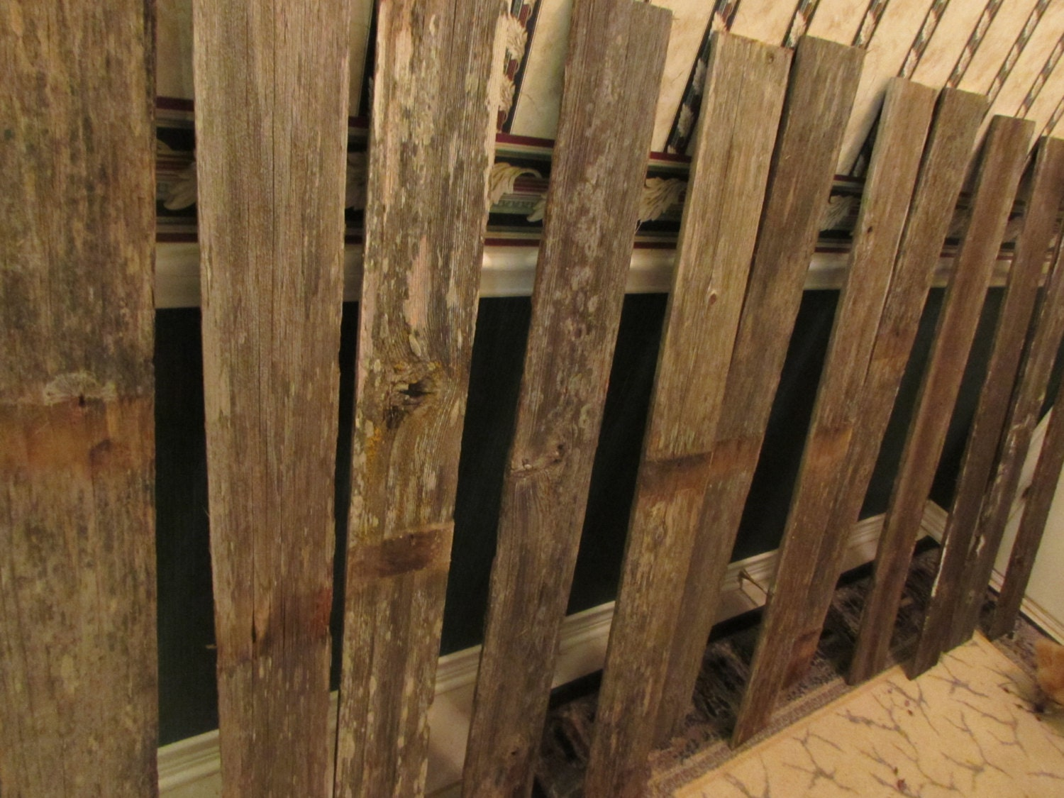 Reclaimed old fence wood boards