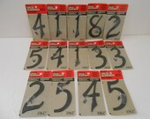 "House Numbers/Nail on 4""/Aluminum/Price for EACH is 1.75/Black Color/NOS"