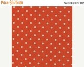 SuperBowl Sale Mochi Linen Dots by Momo for Moda Fabrics, Dots Tangerine 1/2 yard total