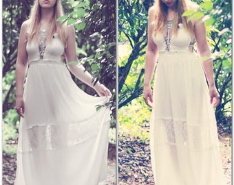 Creme Beach maxi, Bohemian beach maxi dress, Cover up, Music festival fashion, Boho style clothing, Summer trends, Dress True rebel clothing