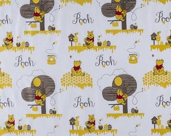 Winnie the Pooh Hunny scene cotton Calico fabric fabric  quilting apparel cotton  Fat Quarter, 1/2 yard or by the yard fabric  cotton fabric